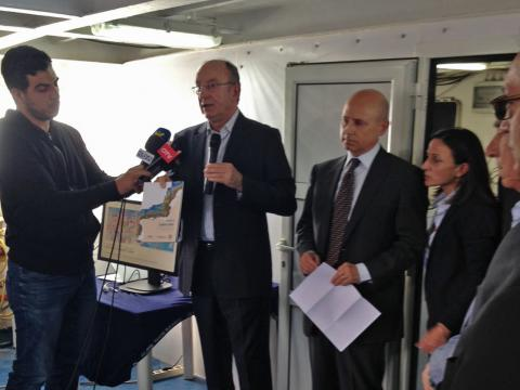 Water-DROP participates to the Celebratory on the CANA-CNRS Research Vessel in Beirut, Lebanon